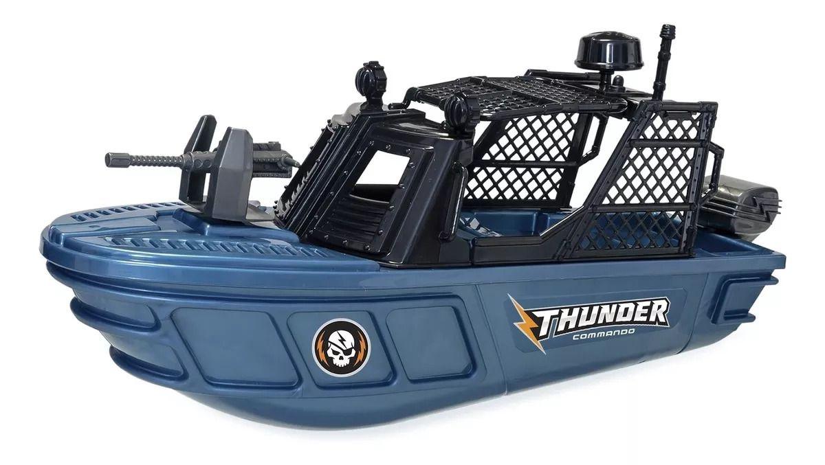 Barco Infantil Thunder Commando Brincar Na Piscina Azul