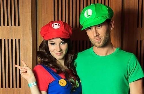 4e9204af1b31f ... Bone Mario Boina Mario Chapeu Mario Ou Luigi Cosplay Adulto ...