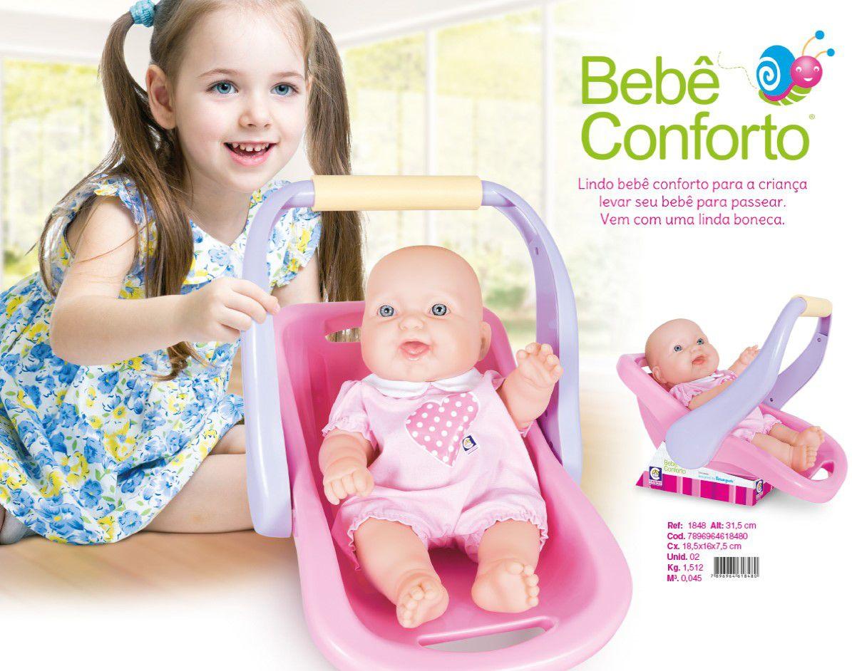 Boneca Bebê Conforto La New Reborn Menina Cotiplás