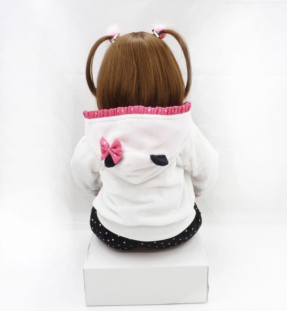 Boneca Bebê Reborn Menina Elisa 60cm Pronta Entrega