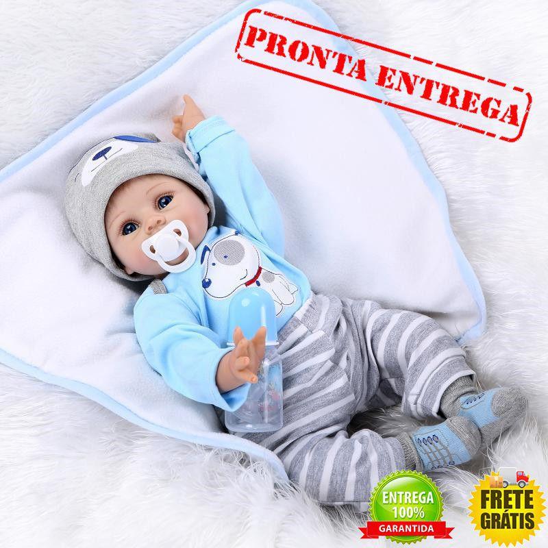 6fc0d7d9aa2 Boneco Bebê Reborn Menino Arthur Original