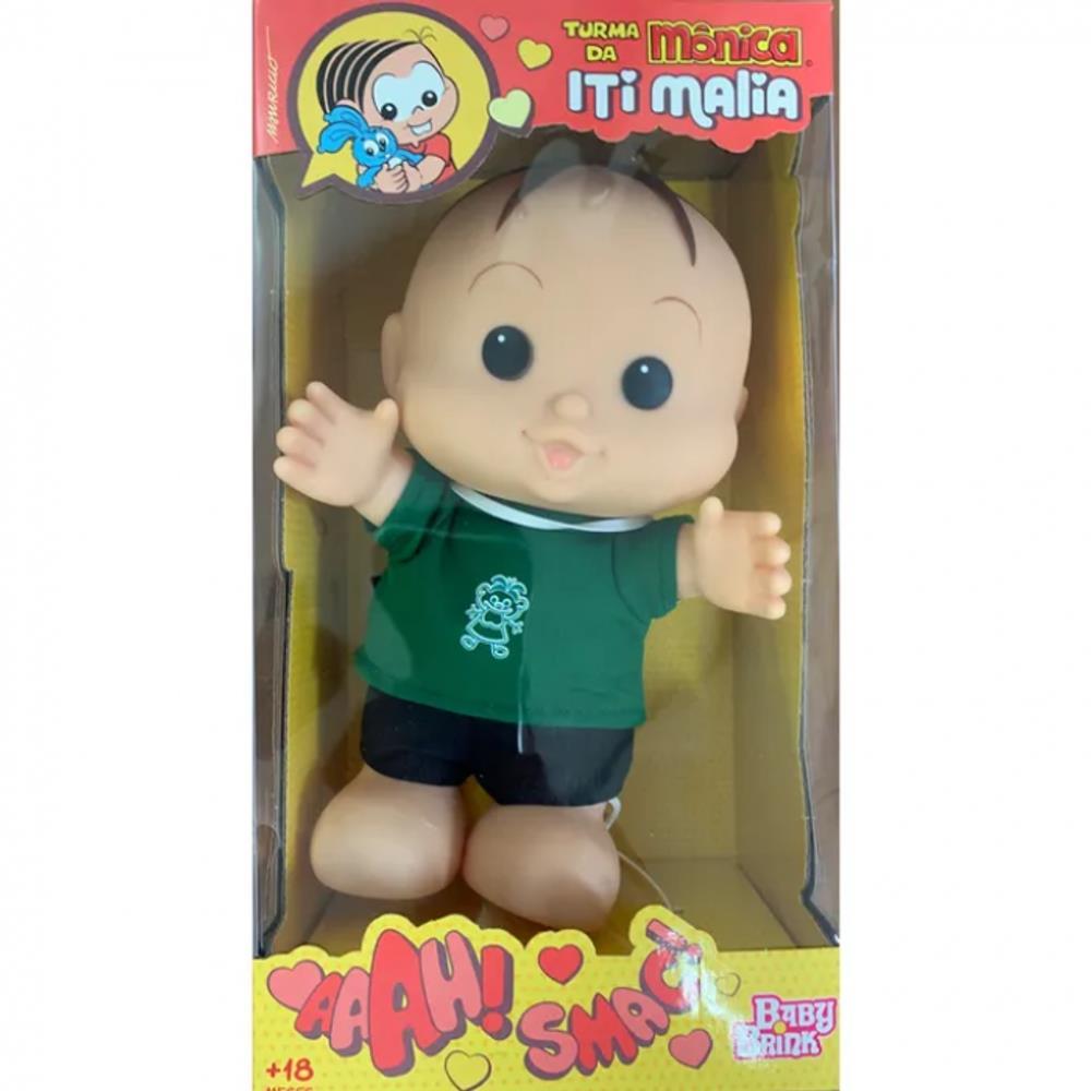 Boneco Cebolinha Turma Da Monica Iti Malia Novabrink