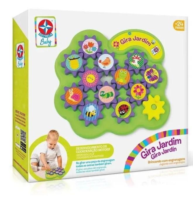 Brinquedo de Atividade Gira Jardim Estrela Baby