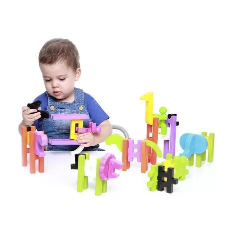 Brinquedo De Montar Big Block Zoológico Estrela Baby