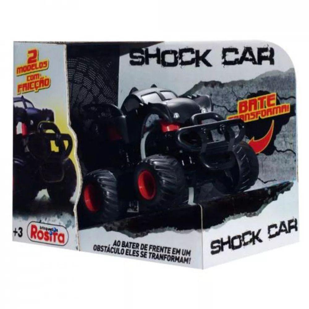 Carrinho Bate Transforma Shock Car Morcego Rosita