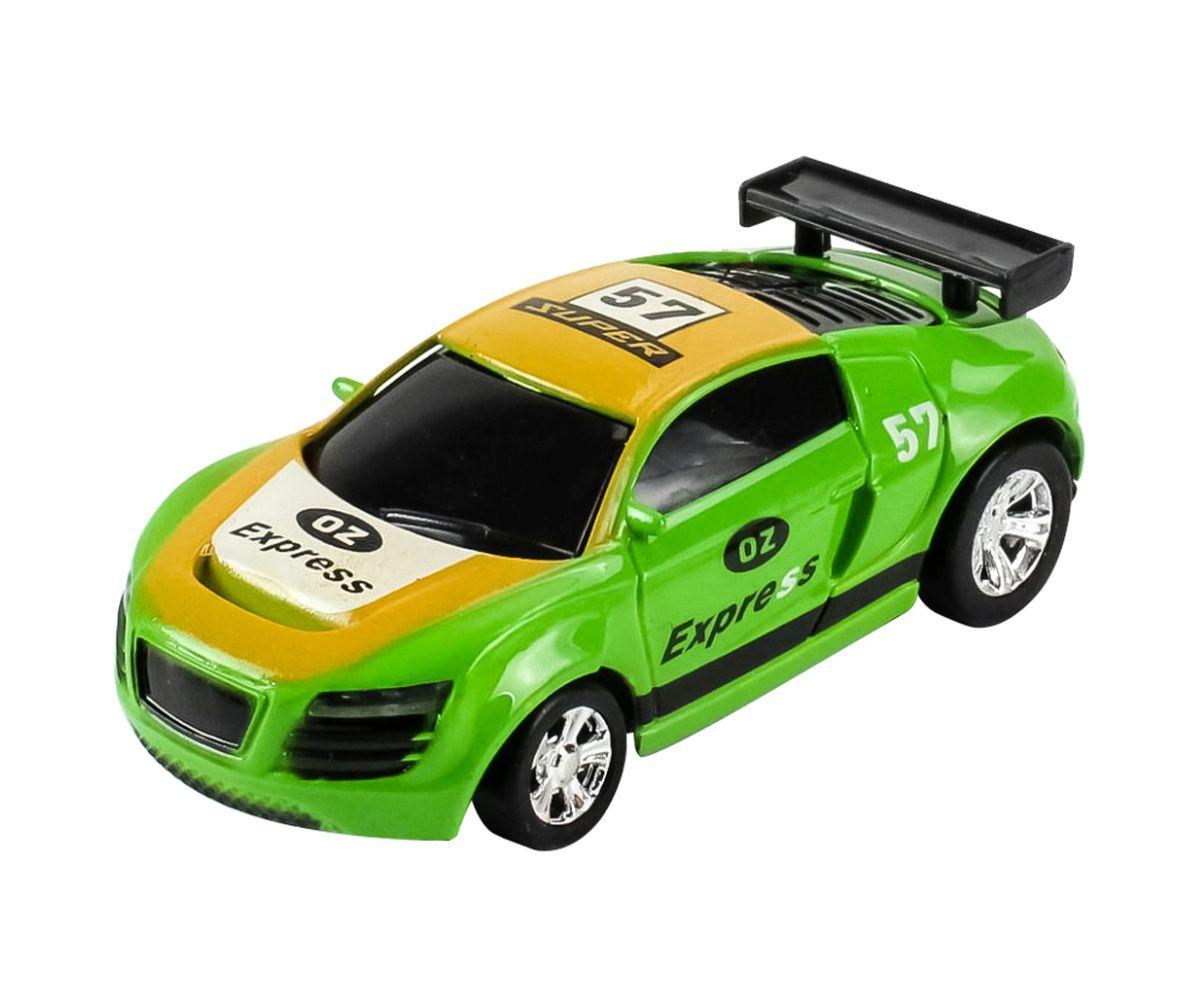 Carrinho De Controle Lata Racing Verde Dtc