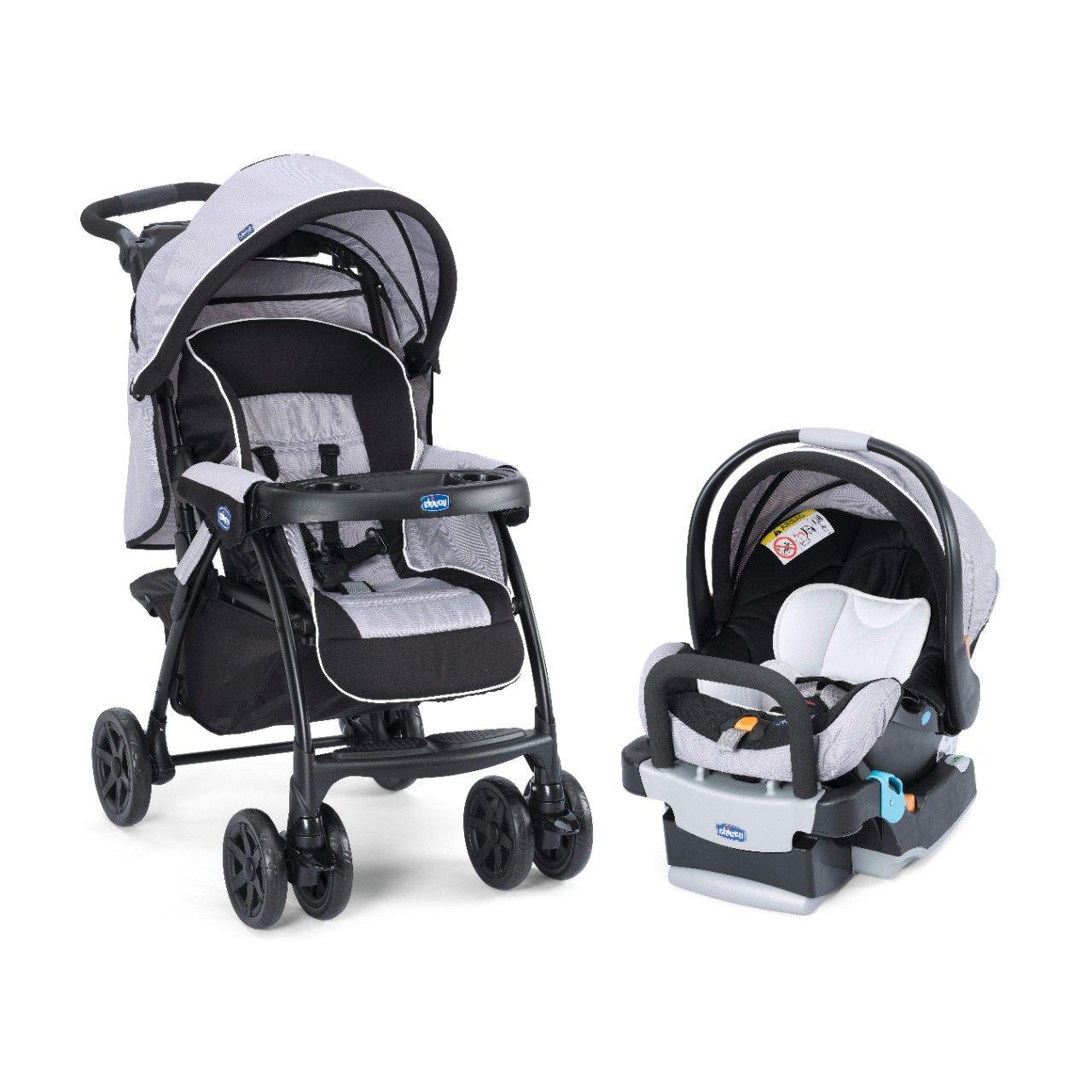 Carrinho Duo Today Chicco Anthracite +Bebê Conforto
