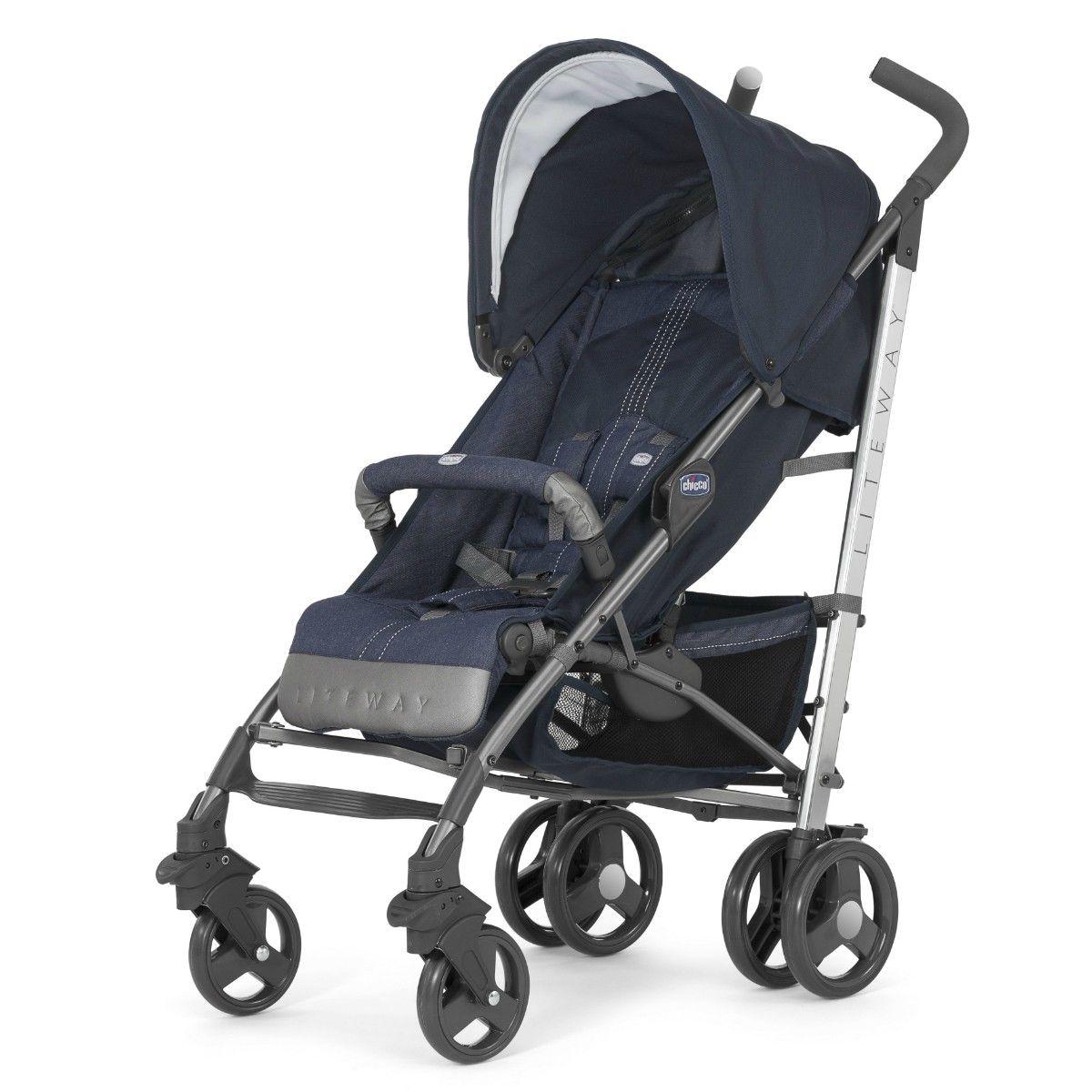 Carrinho De Bebê Chicco Liteway Top 2 Denim Até 15kg com NF
