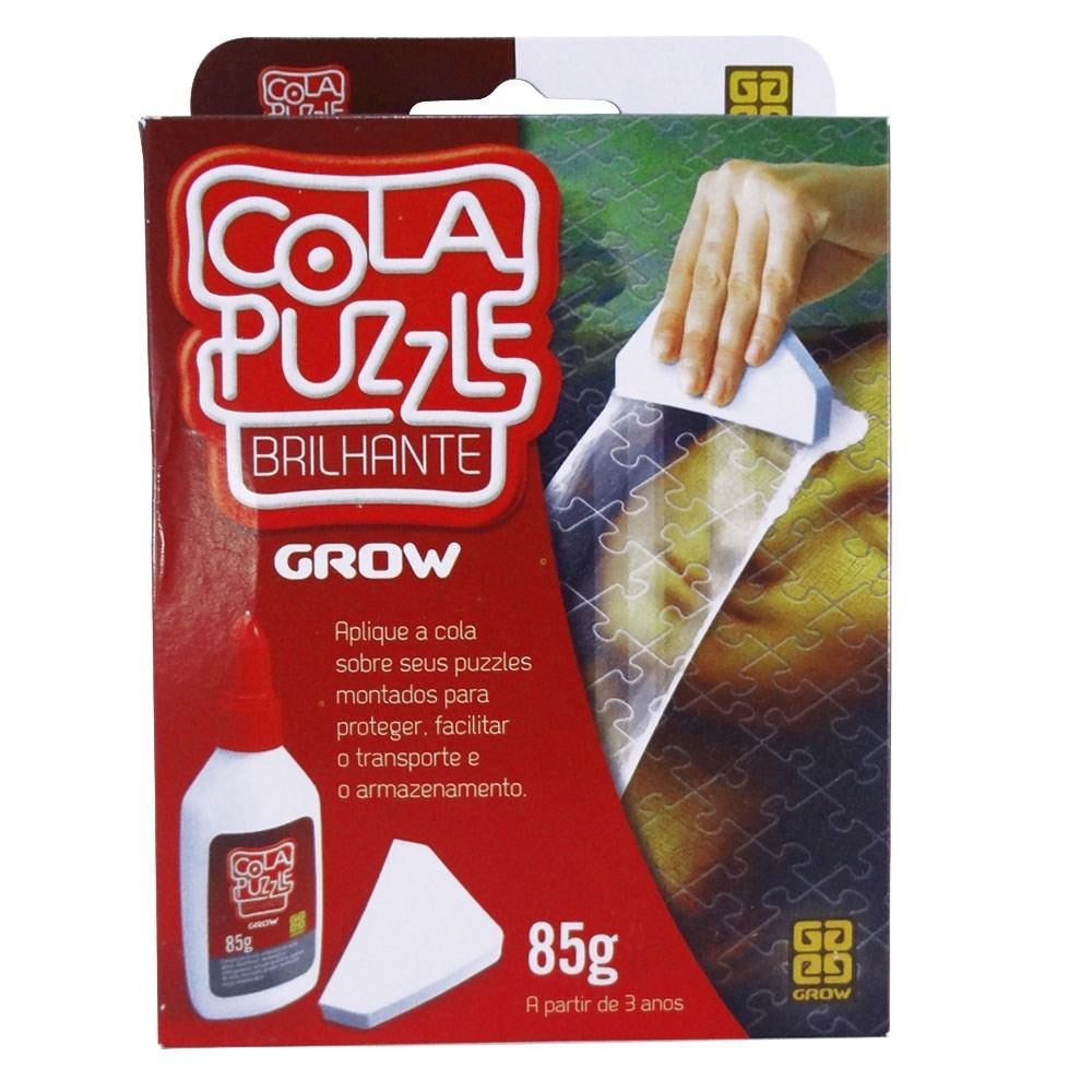 Cola Puzzle Grow Para Quebras Cabeça Brilhante