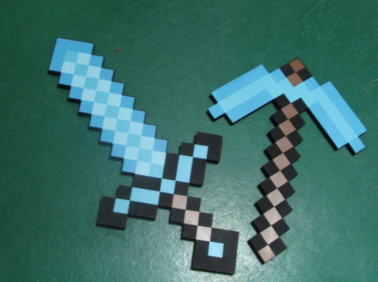 Espada Minecraft Eva Diamante