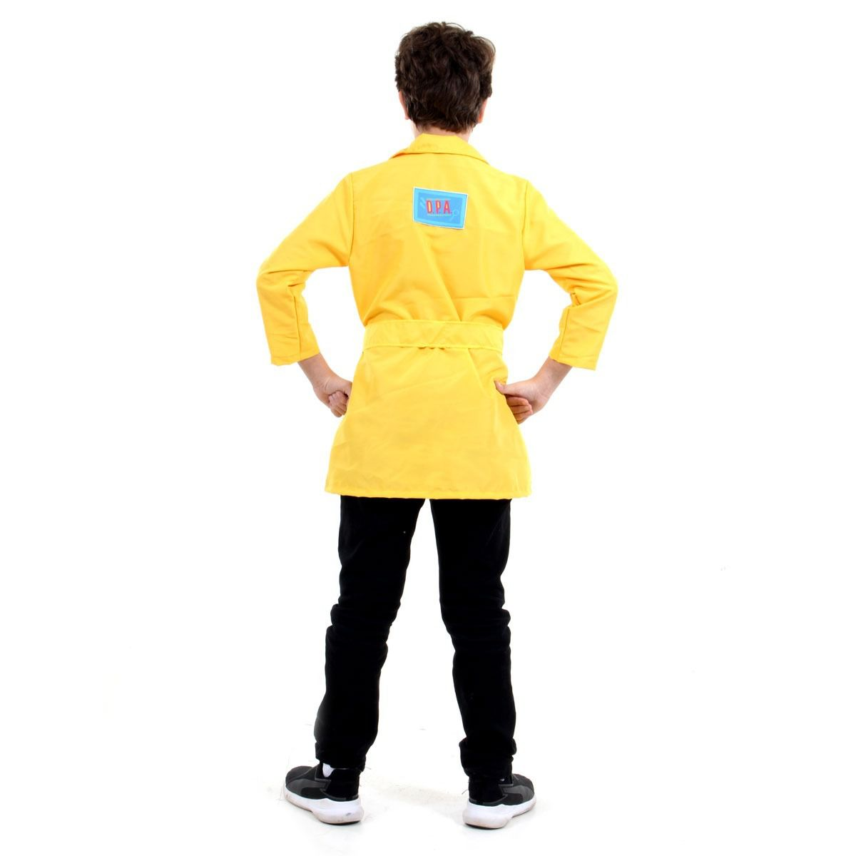 Fantasia Capa Dpa 2 Amarelo Bento Detetives Prédio Azul 2