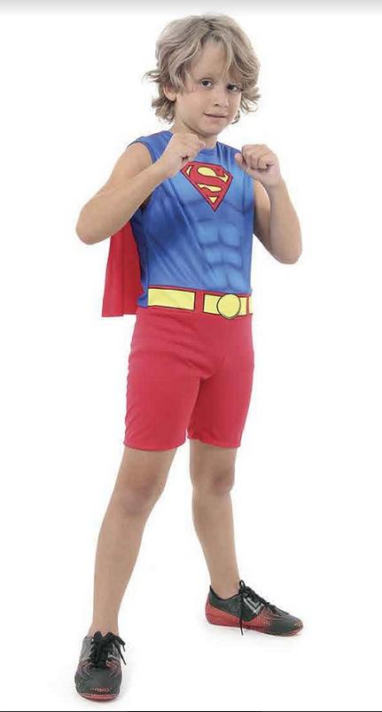 Fantasia Infantil Super Homem Regata Superman Regata