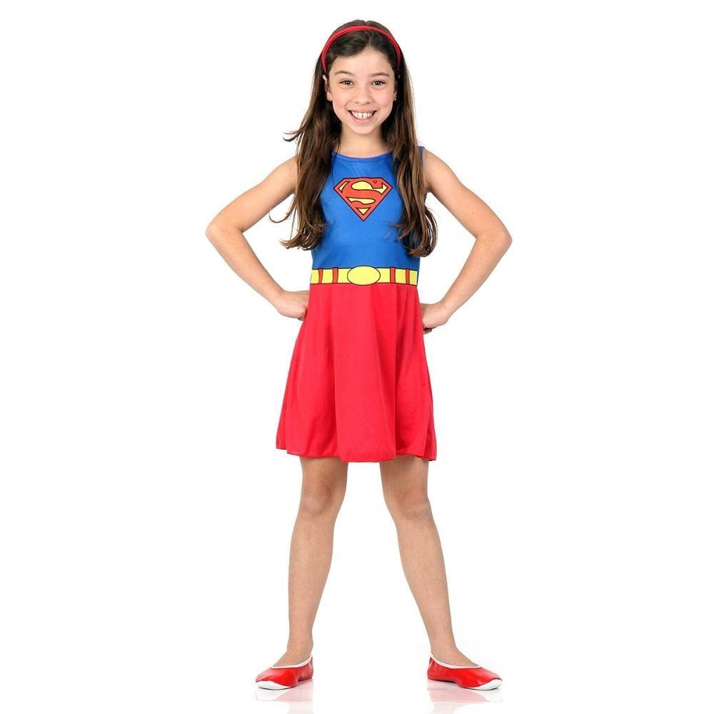Fantasia Infantil Super Mulher  Super Pop Sulamericana