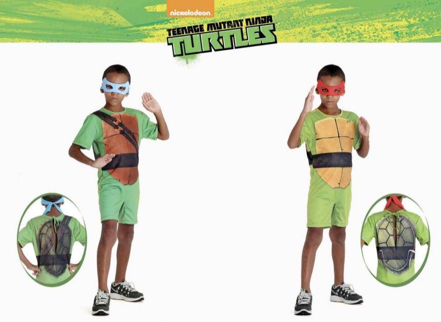 Fantasia Tartarugas Ninjas Leonardo Infantil C/ Máscara