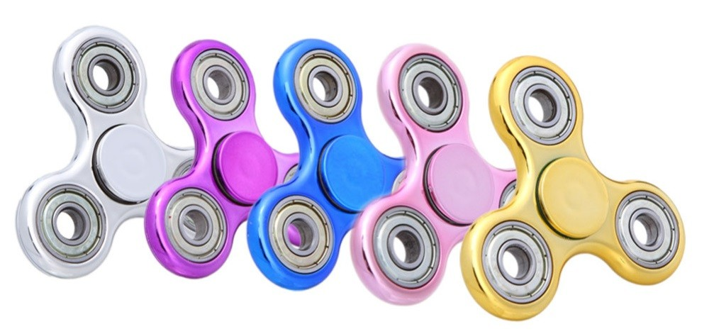Fidget Hand Spinner Rolamento Metal Caixa Anti Stress