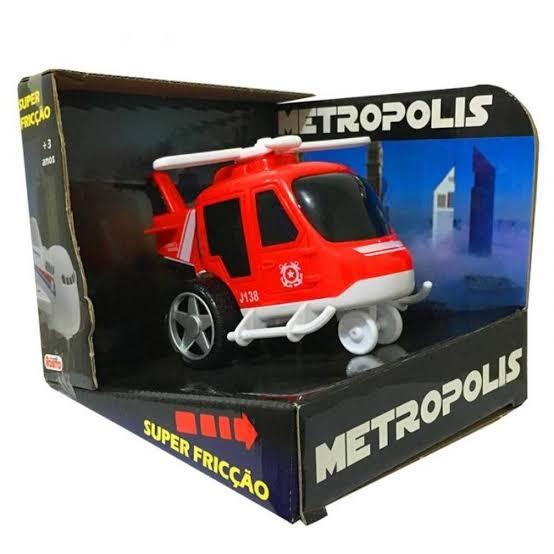 Helicóptero À Fricção Metropolis Rosita Brinquedos 9172