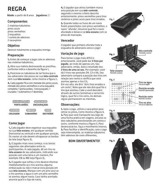 0fc4d57a1 Jogo Batalha Naval Original Grow 01853GrowCompre Brinquedos Online ...