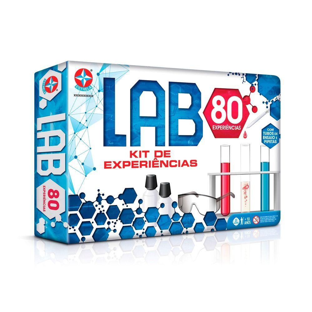 Conjunto Atividades Kit De Experiências Jogo Lab 80 Estrela