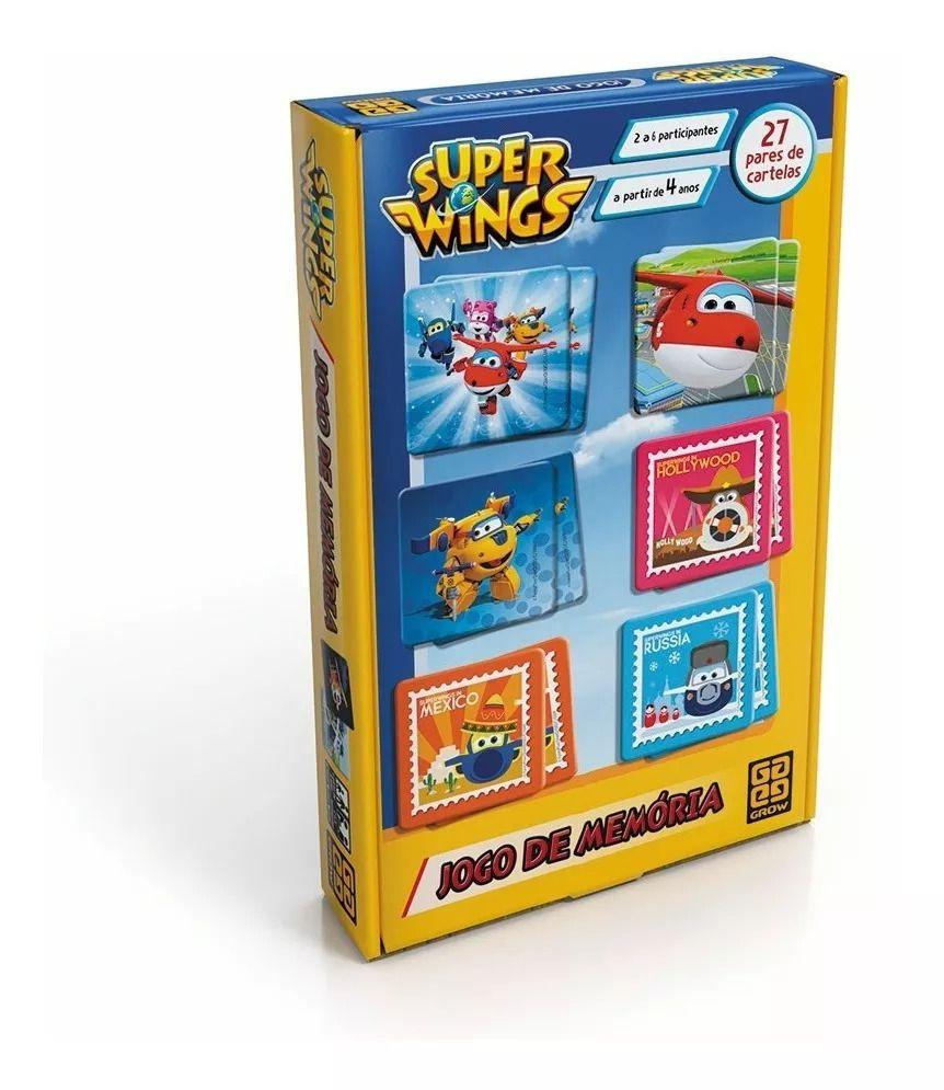 Jogo De Memória Super Wings 27 Pares Grow 03326