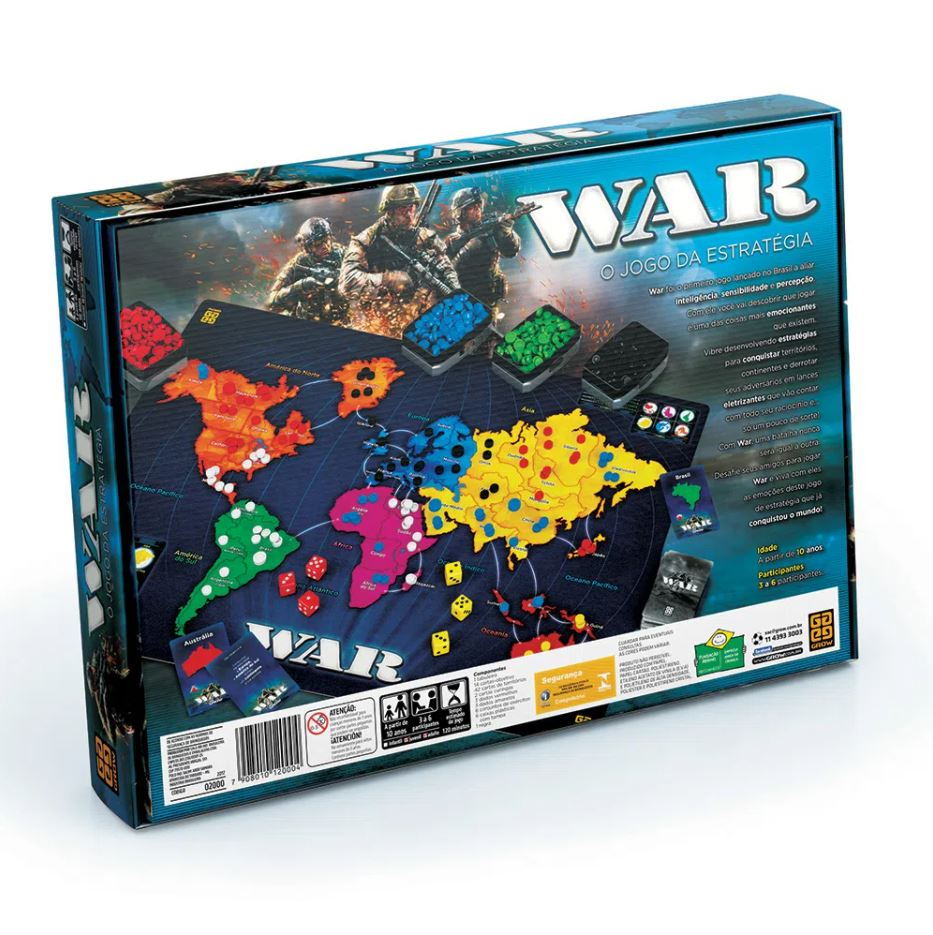 Jogo De Tabuleiro Grow War Jogo de Estrategia