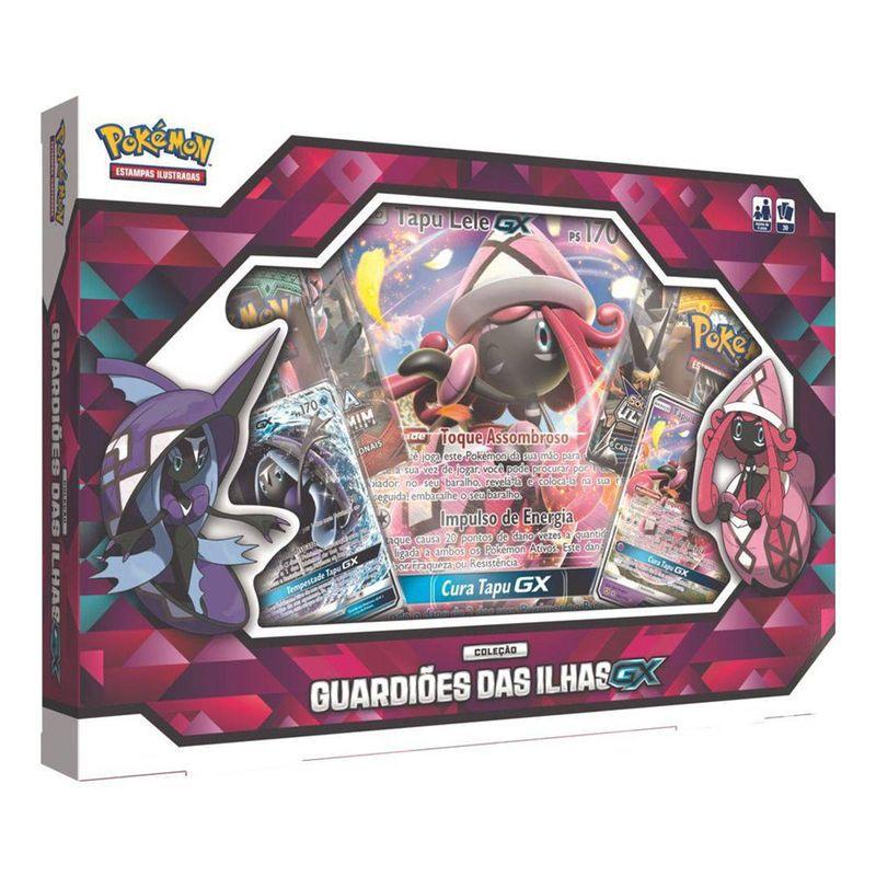 Jogo Pokémon Box Guardiões das Ilhas GX Copag