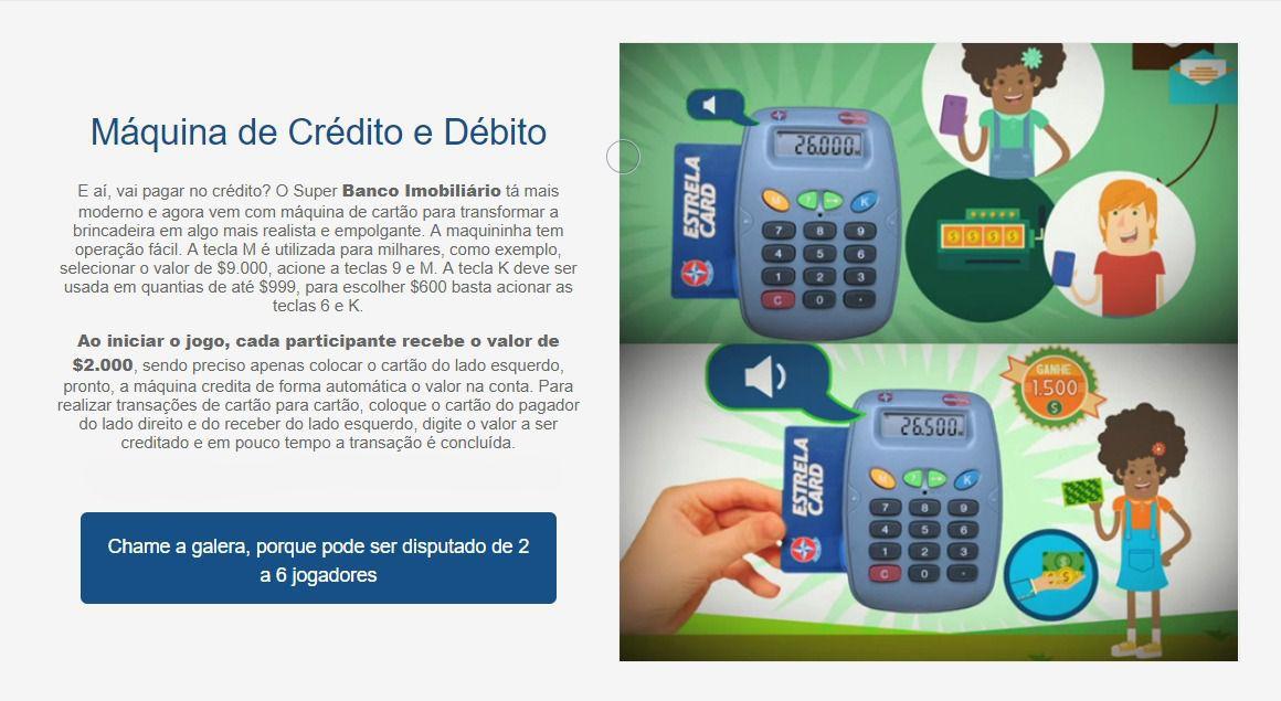 Jogo Super Banco Imobiliário Estrela