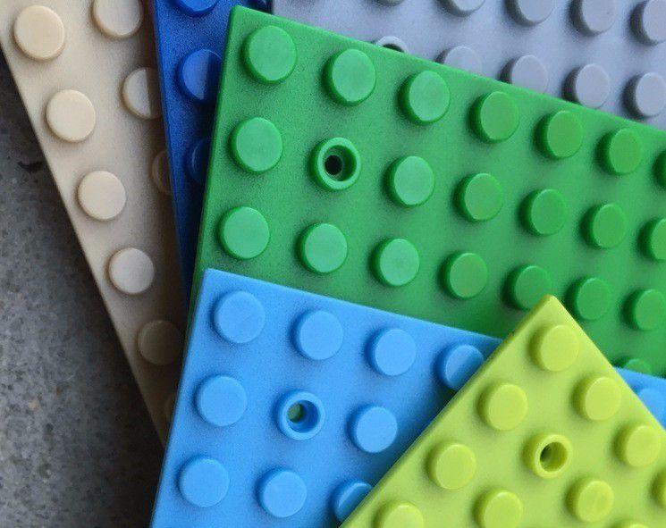 Kit 5 Unidades Base Plate Lego 16x32 Compatível Lego