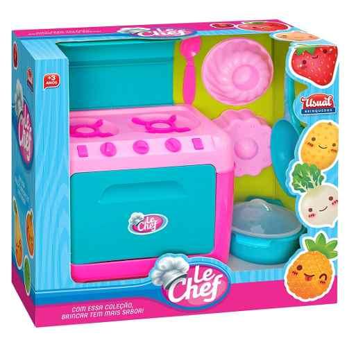 Kit Fogão Infantil  Le Chef Com  Acessórios -  Usual