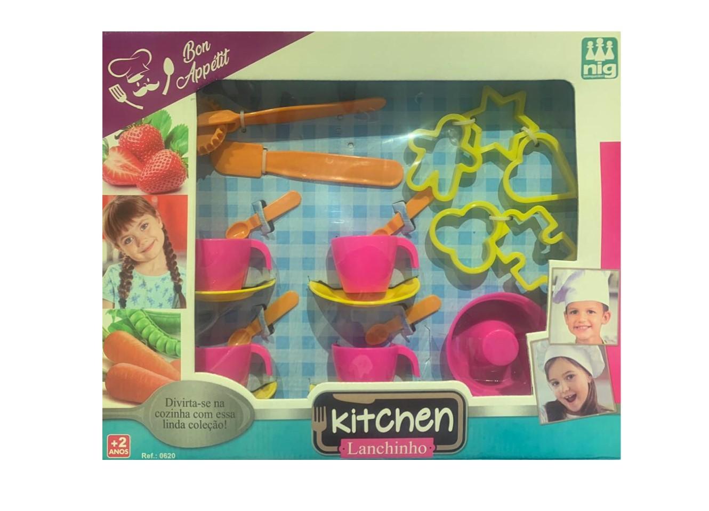 Kit Infantil Jogo de Chá Kitchen Lanchinho Nig