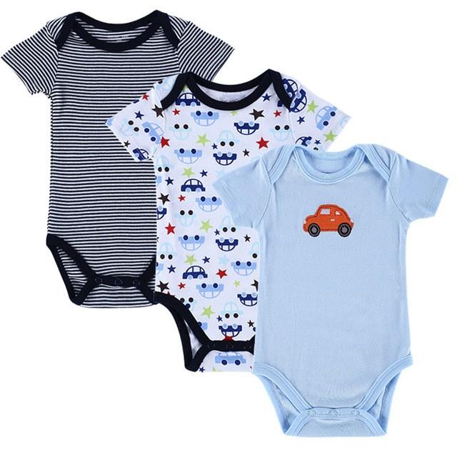 Kit Roupinha Bebê Menino Kit com 3 Peças