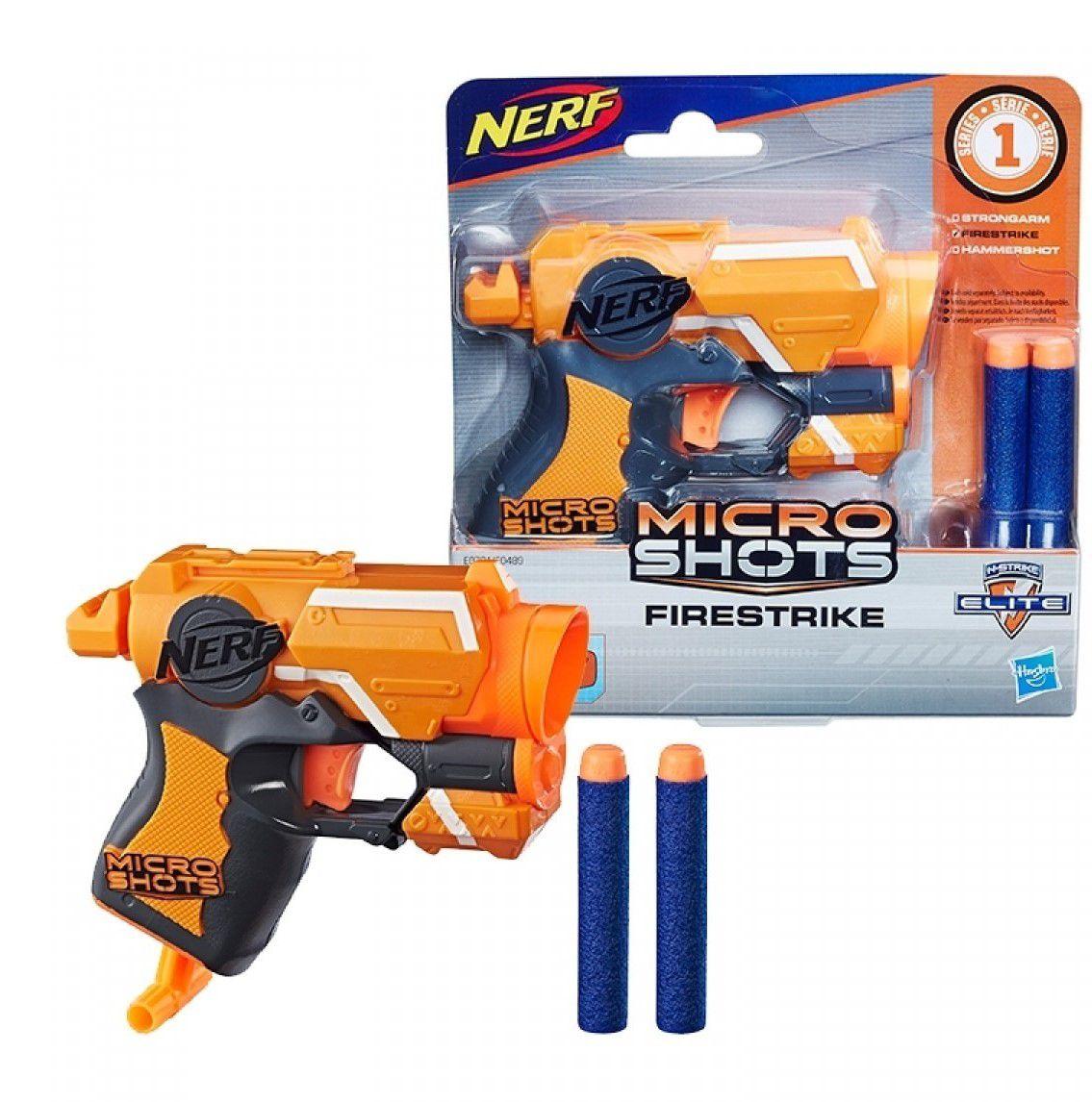 Lançador Nerf Firestrike Elite Microshots Hasbro E0721 E0489