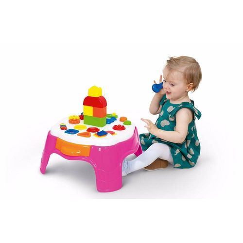 Mesa Educativa De Atividades Cotiplás Rosa Play