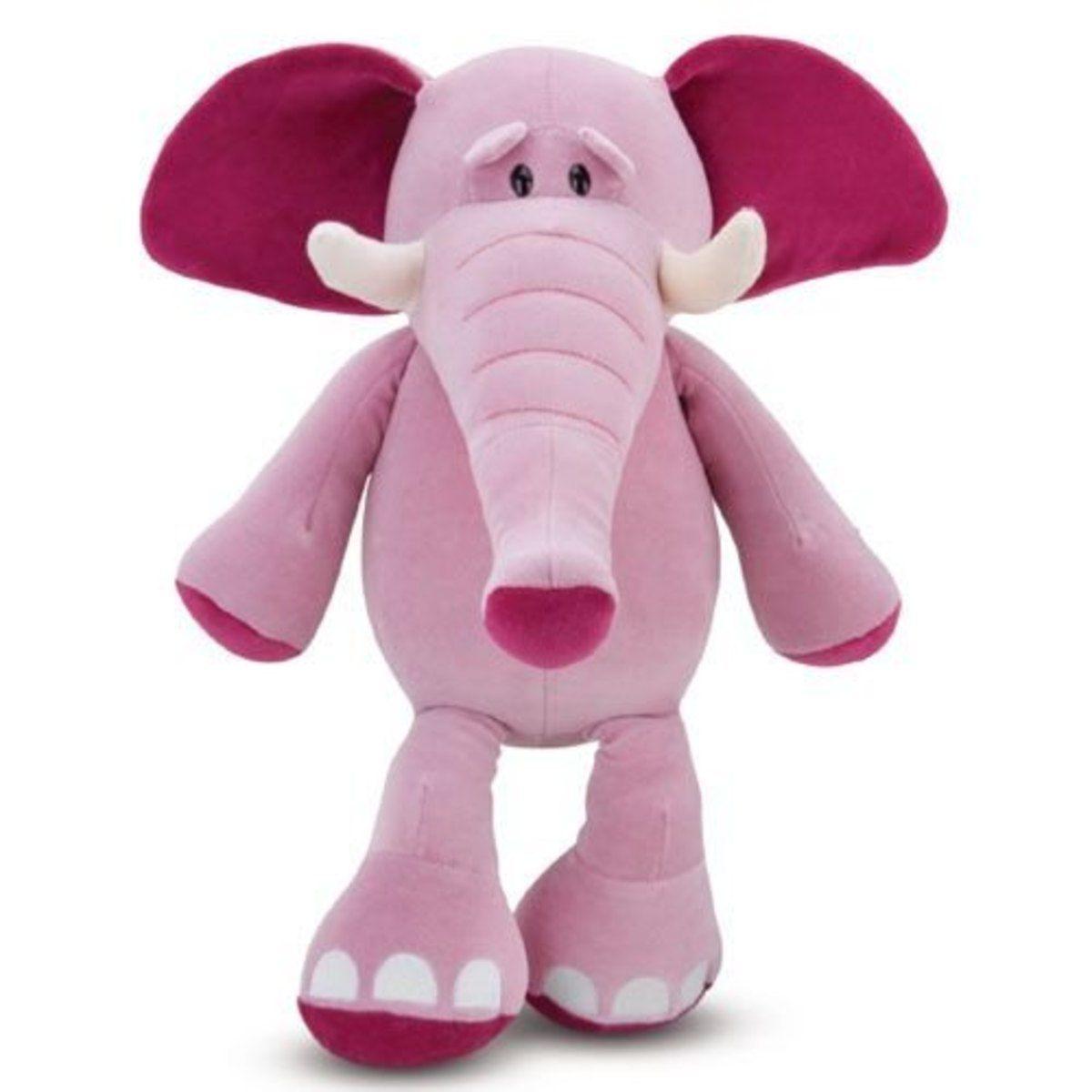 Pelúcia Elefante Rosa Grande Antialérgico Cortex