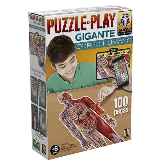 Quebra Cabeça 100 Peças Play Gigante Corpo Humano