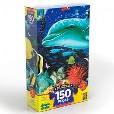 Quebra Cabeça Puzzle Amigos do Mar Grow 150 peças