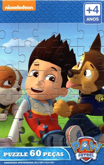 Quebra Cabeça Puzzle Patrulha Canina Paw Patrol 60pçs