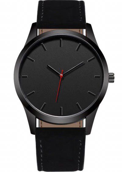 Relógio Masculino Jeane Carter T1400 Preto Couro