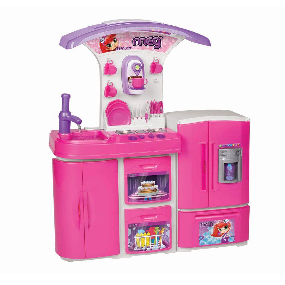 Cozinha Super Vers Til Magic Toys Rosa Com Guamagic Toystoyzz