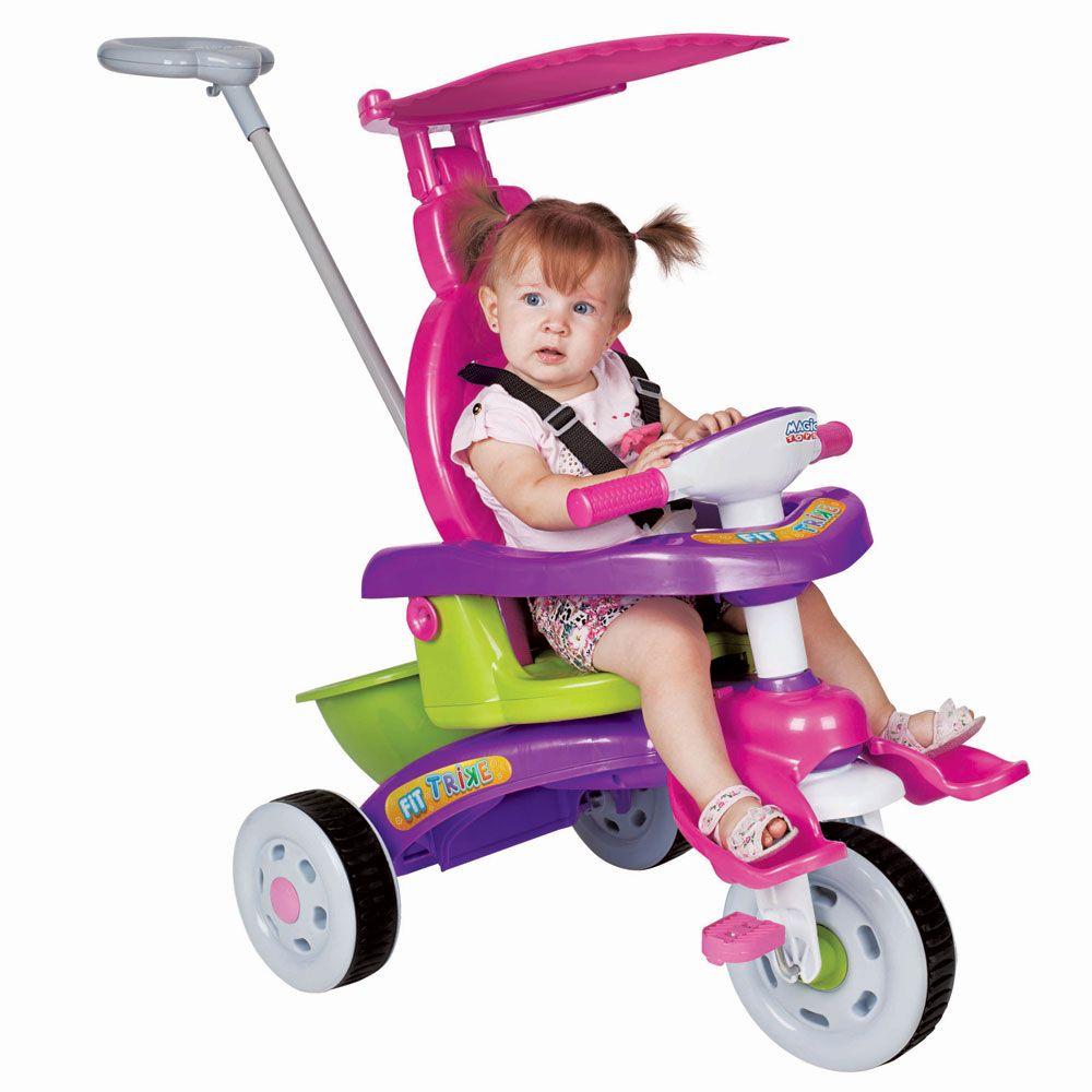 Triciclo Infantil Fit Trike Rosa da Magic Toys 3339 Rosa