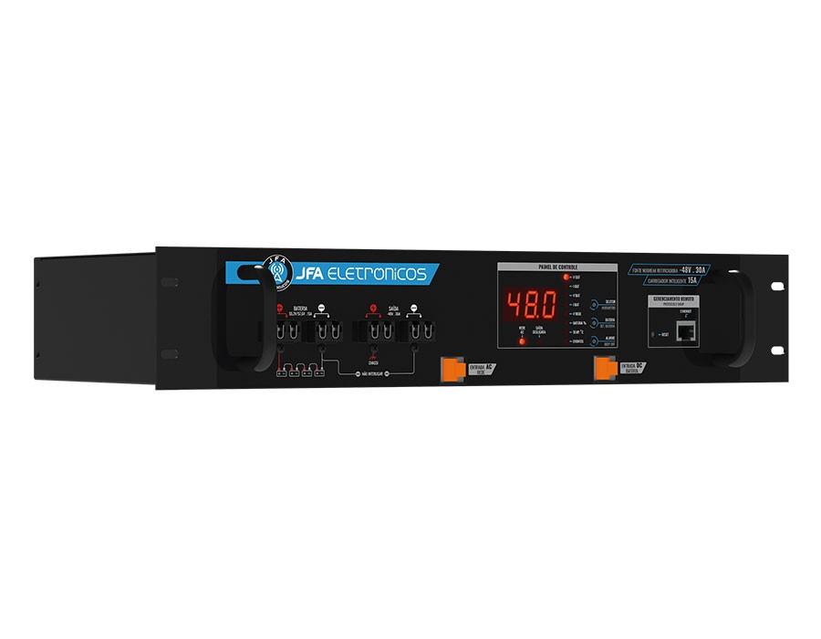 Fonte Nobreak Retificadora Gerenciável -48V/15A/15A de carregador inteligente