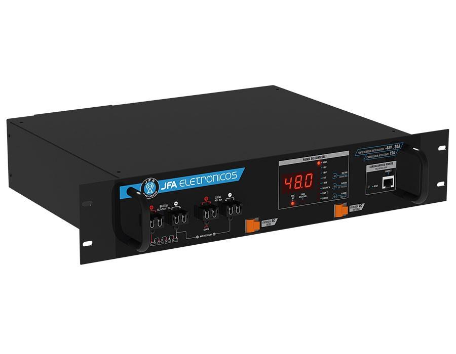 Fonte Nobreak Retificadora Gerenciável -48V/30A/15A de carregador inteligente