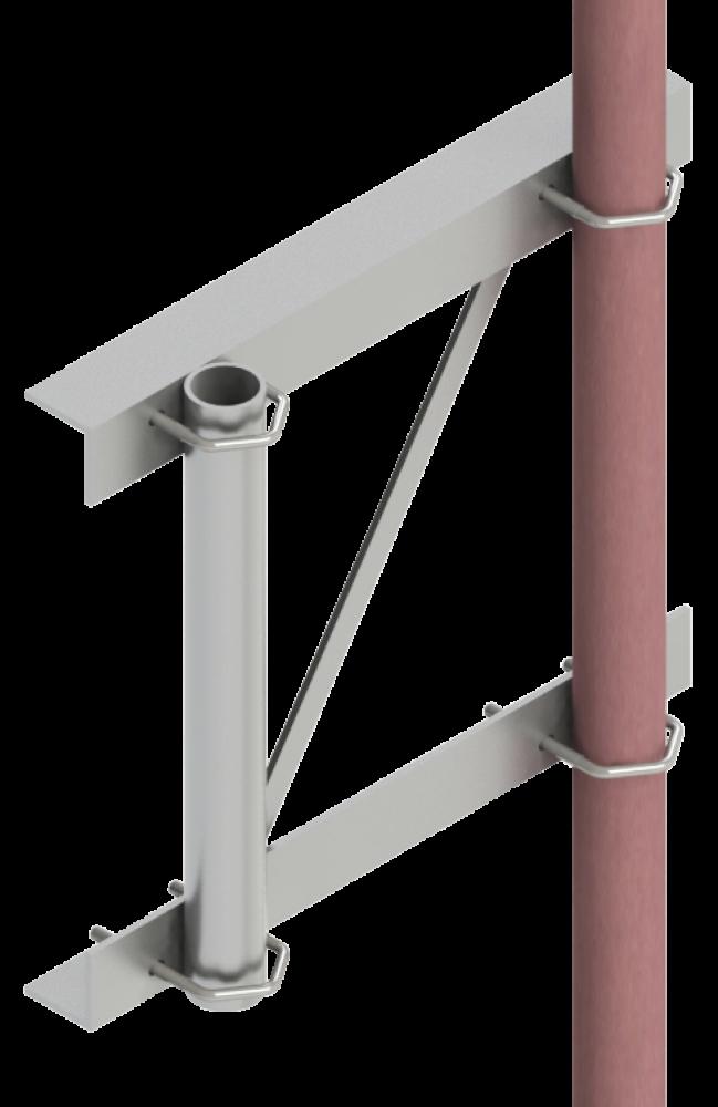 Suporte para torre de alumínio - SCA - 03-03-2