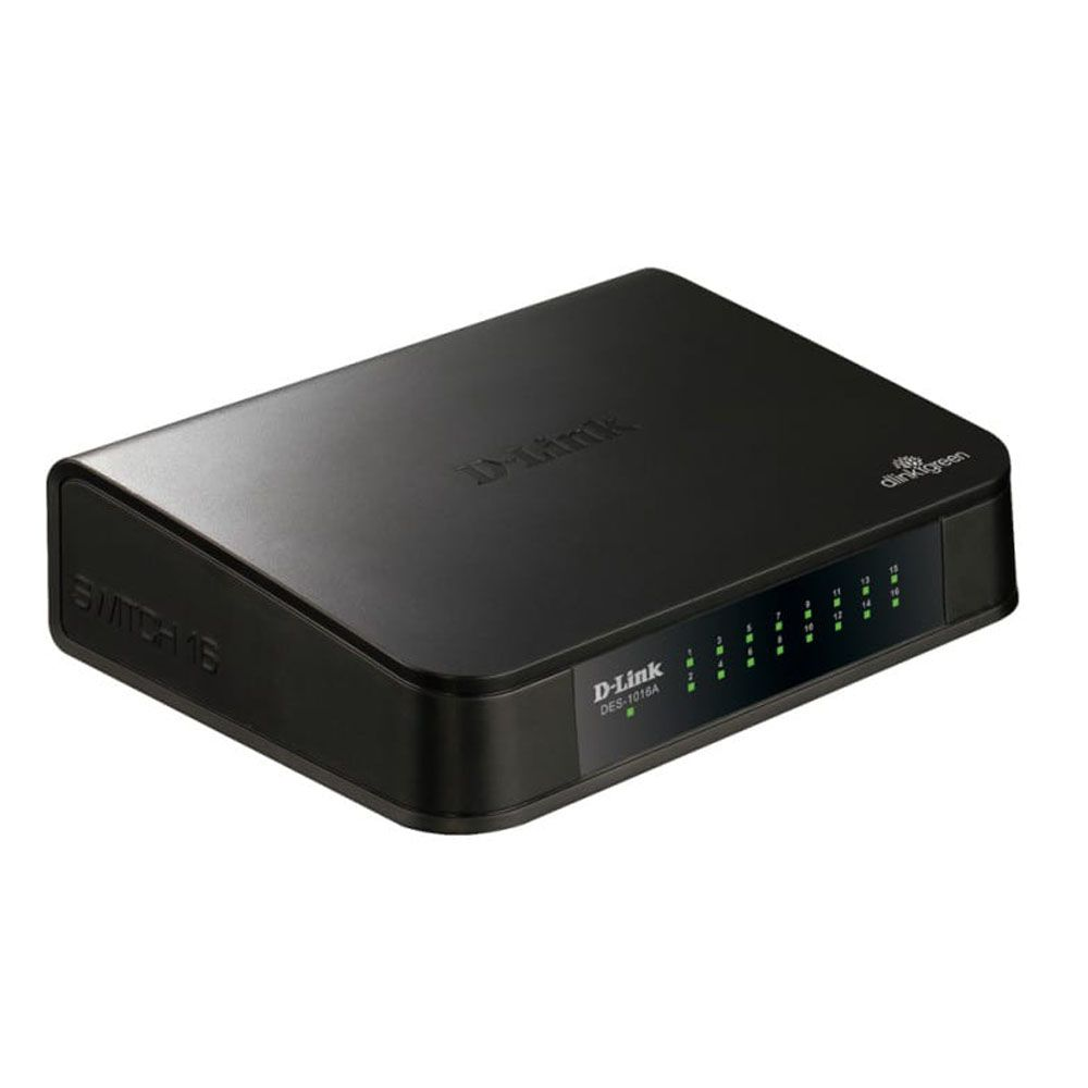Switch Fast-Ethernet 16 portas - D-Link