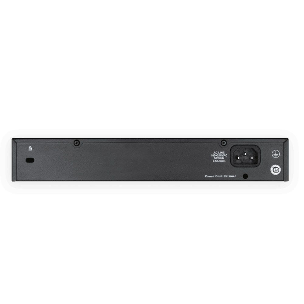 Switch Fast-Ethernet 24 portas - D-link
