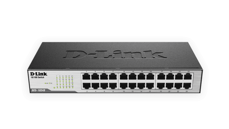 Switch Fast-Ethernet 24 portas DES-1024D