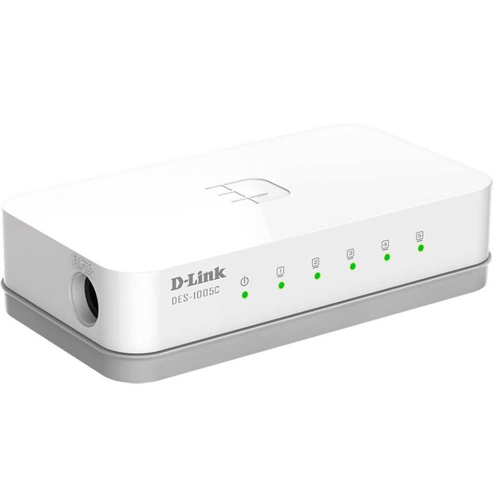 Switch Fast-Ethernet 5 portas - D-link