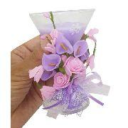 Vela Decorativa Media Festa 15 Anos Flor Enfeite Kit Com 2 (WL-D / Media Cor Roxa)