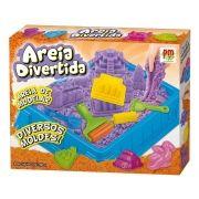 Areia De Modelar Divertida Massinha 900G Com 6 Moldes E Acessorio Castelo brinquedo (DMT5121)