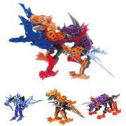 Boneco Transformavel Dinossauro Warrior Brinquedo Crianca Infantil (DMT4695)