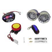 Caixa de som Moto Automotivo Radio FM Atende Celular Bluetooth Alarma Usb SD (RC385)